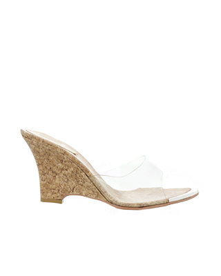 transparent Wedge Sandal (* sole recommendation was turned into a powerful 'Beige' colors Hannah)