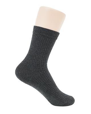 Corrugated cotton socks