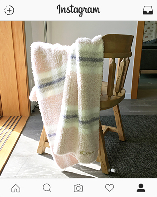 Gelato rainbow knee blanket