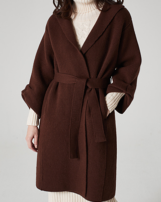 Open Knit Belted Coat
