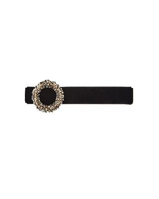 Velvet circle hairpin
