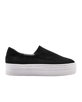 Piece Banding Slip-on Shoes