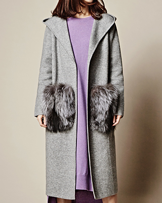 sale Hood Fox Long Cardigan