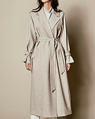 Belted Long Trench CT