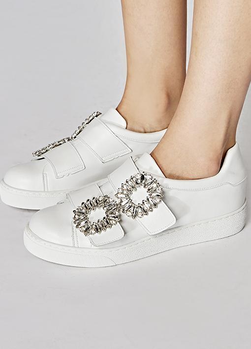 Side Bling Slip-on Shoes
