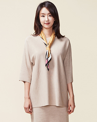 (1FNT010) loose fit Round Knit