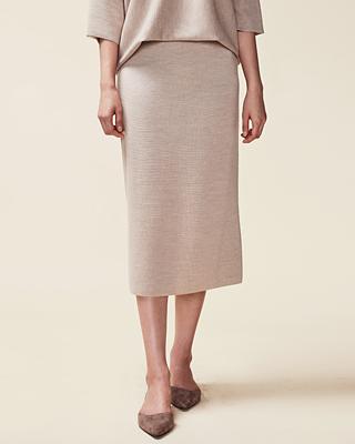 (1FSK018) Slit Knit Skirt