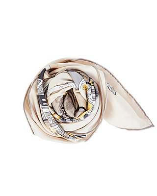 (1FSF005) Musical Silk Scarf