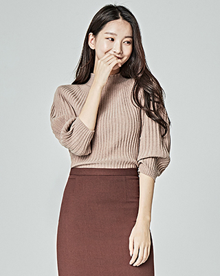 (1FNT031) Hall Corrugated Puff Knit