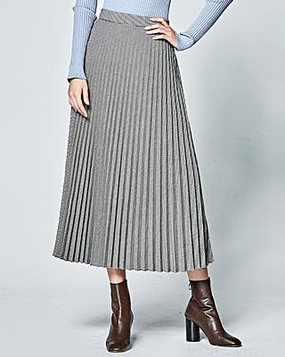 (1FSK035) Check Pleats Skirt
