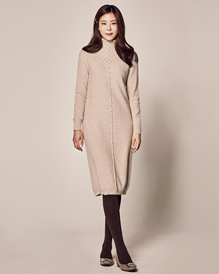 (1FOP050) Luni Turtleneck Knit One Piece