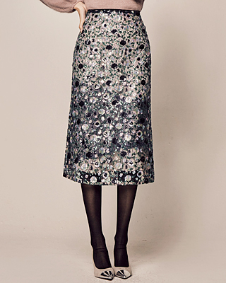(1FSK073) Colorful Spangle Midi Skirt