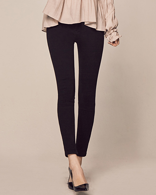 (1FPT086) Slim line Outer brushed Pants