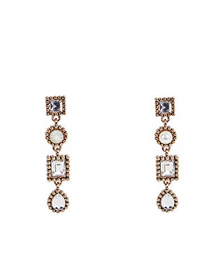 (1FER042) Cubic Square cubic earring