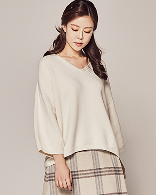 (1FNT114) Season HOLOGENGART V-neck Knit