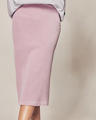 (1FSK087) pastel Velvet Skirt