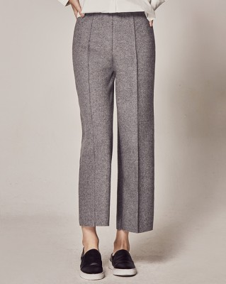 (1FPT114) Banding Wool Slacks Pants