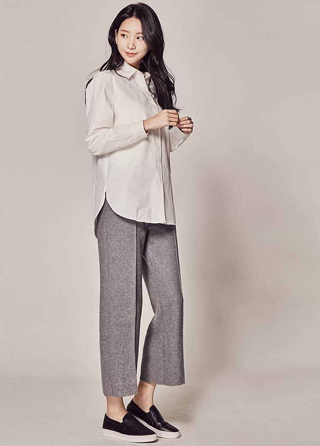 (1FPT114) Banding Wool Slacks Pants