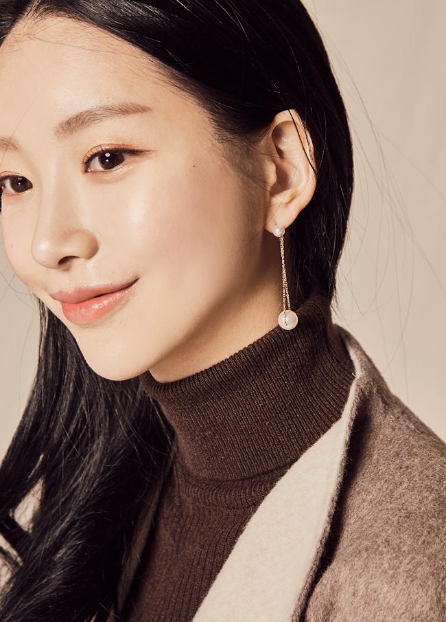 (1FER051) Bian line pearl earring