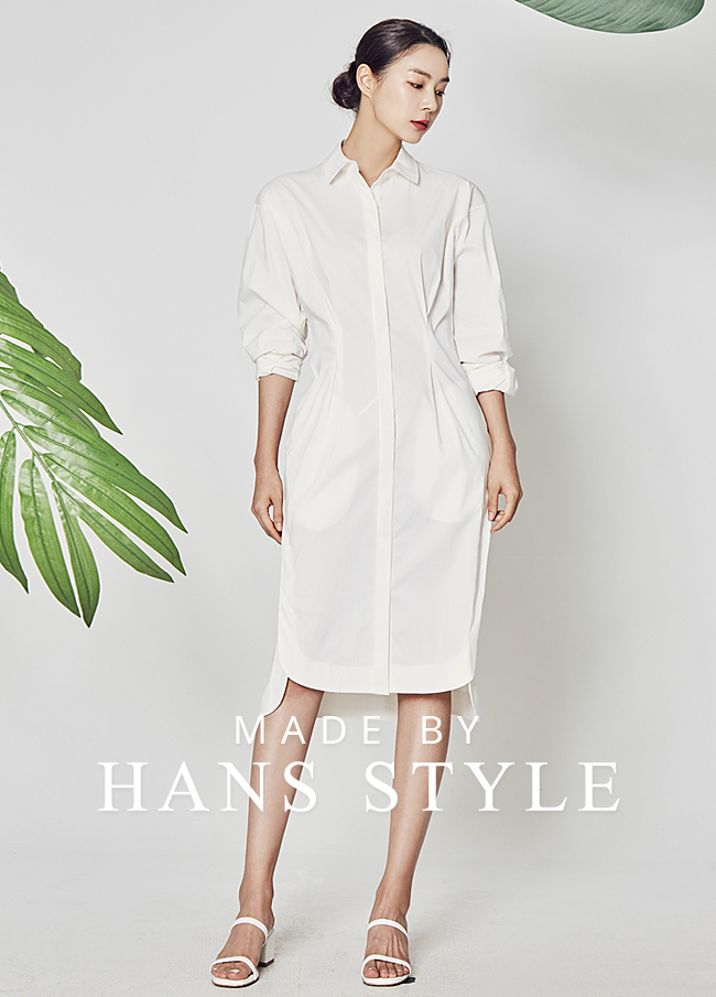 (HS2SOP004) Wrinkles Shirt Type One Piece