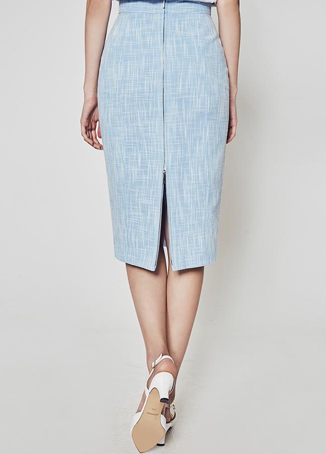 (2SSK109) Zipper Tweed Skirt