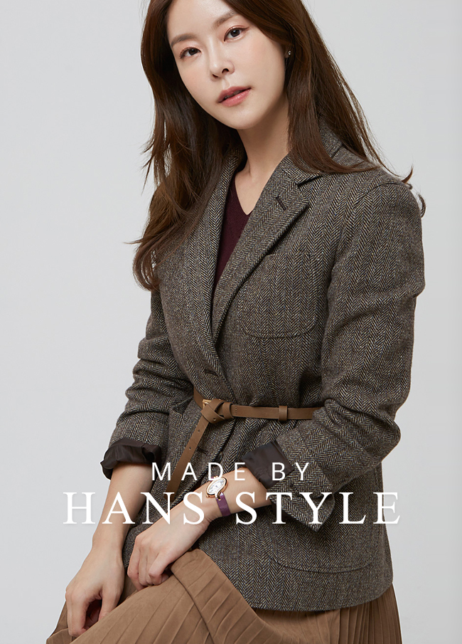 (HS2FJK006) Herringbone single Jacket
