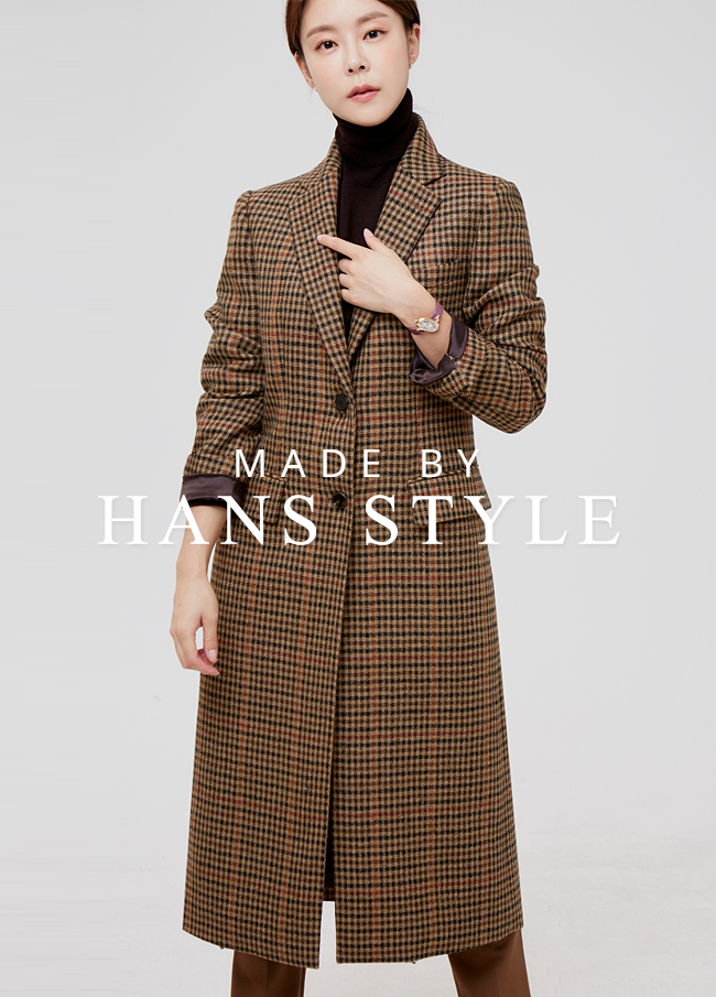 (HS2FCT005) Check pattern single Coat
