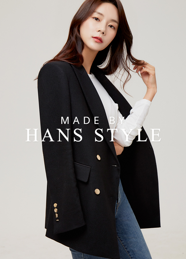 (HS2FJK002) Gold button double blazer