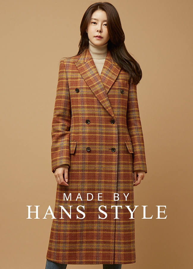 (HS2FCT009) Check felt quilting double coat