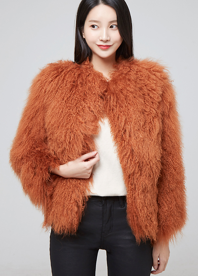 (2FJK027) Real Rams Fur Jacket
