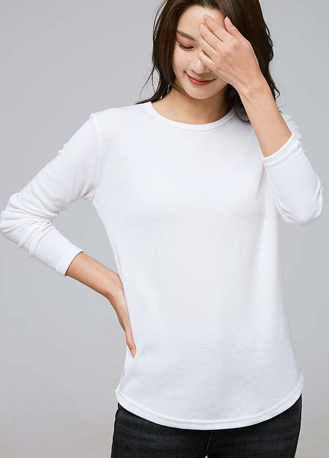 (2FTT084) Basic napping Round T-shirt