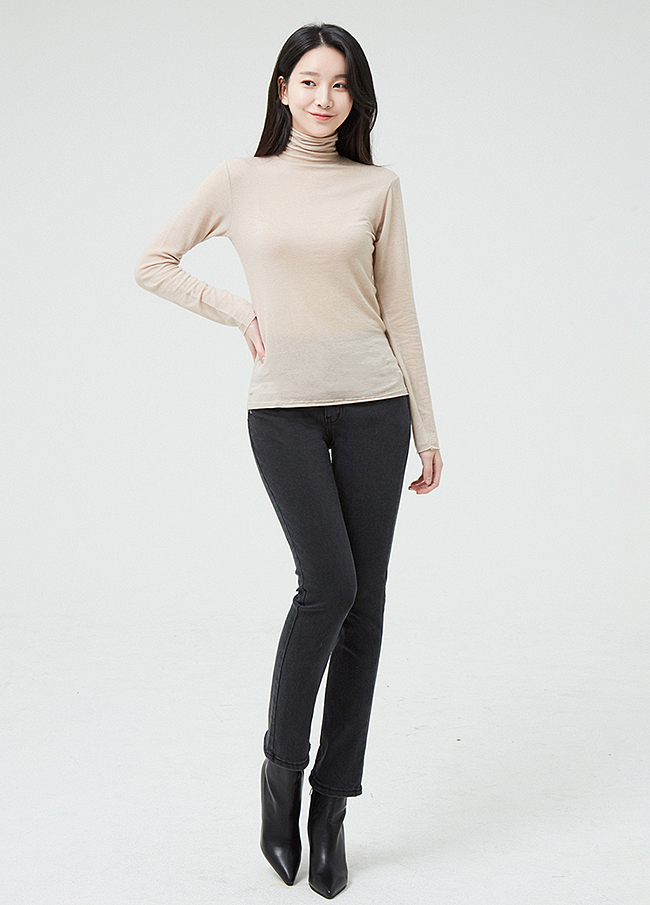 (2FPT182) Cotton napping Slim Straight Pants