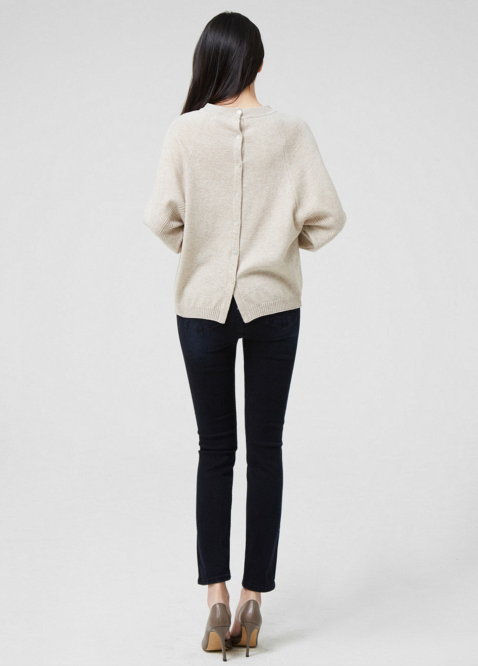 (2FNT167) Wool Cashmere pearl Knit