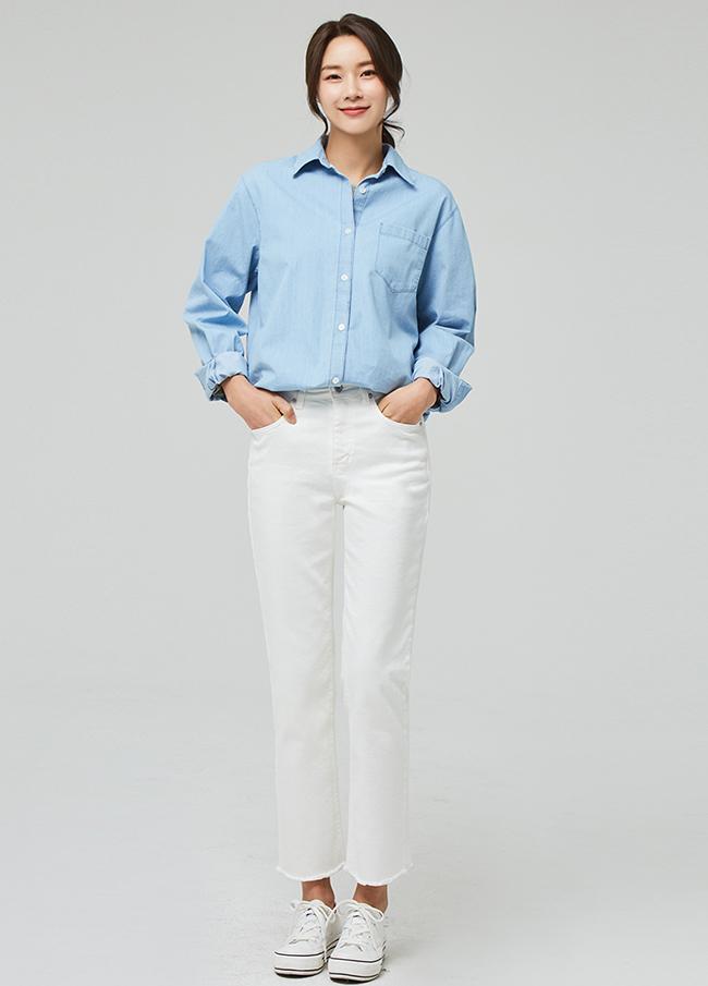 (3SPT012) Cotton Span Cut Straight Pants
