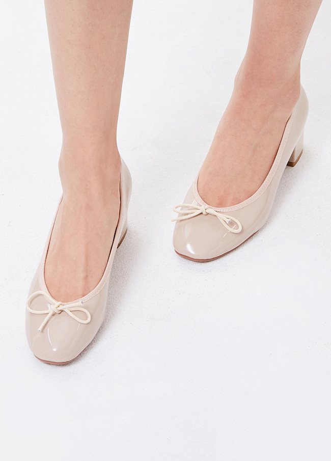 (3SSH015) 205-4 Anamel bowknot middle heel