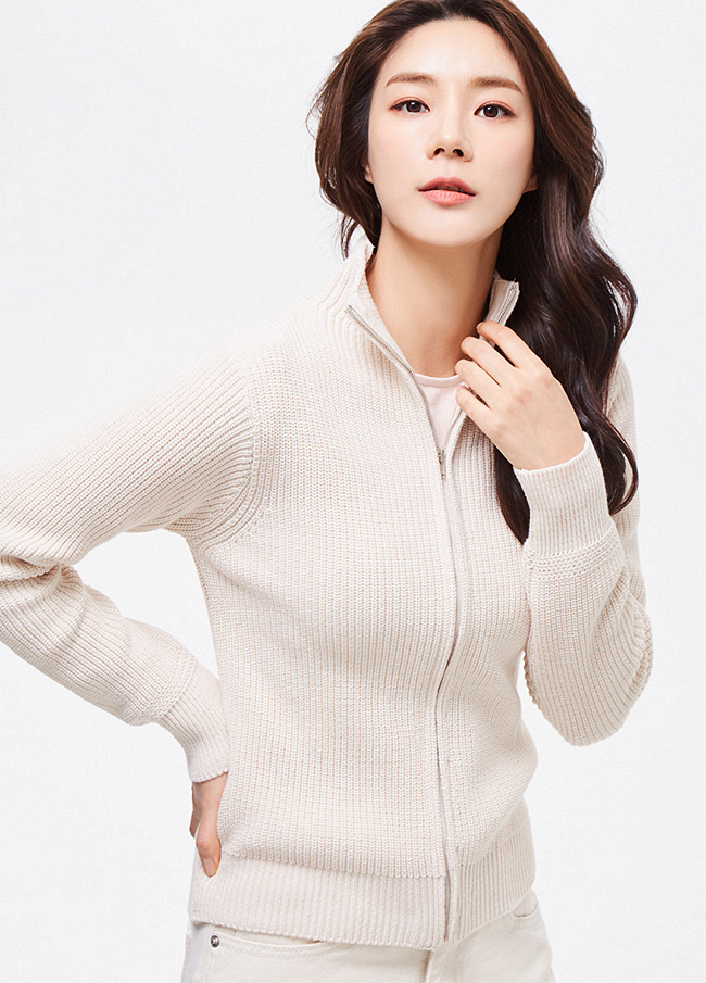 (3SCD019) Cotton Knit Daily Zip up
