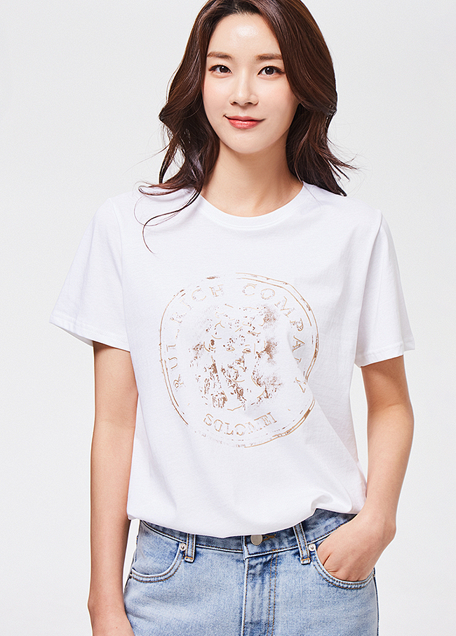 (3STT034) Athens printing cotton T-shirt