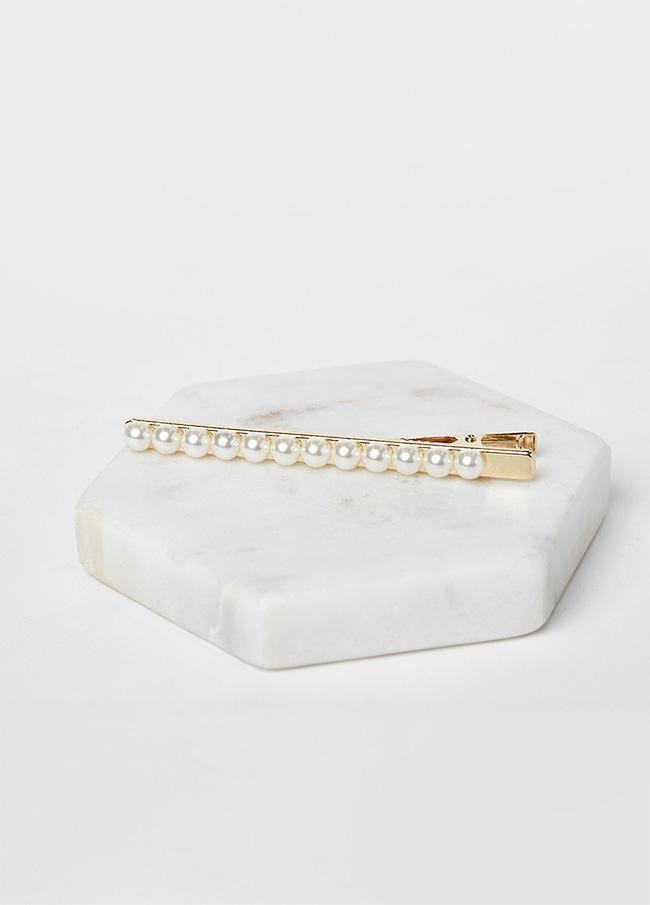 (3SAC014) Gold pearl Hair pin