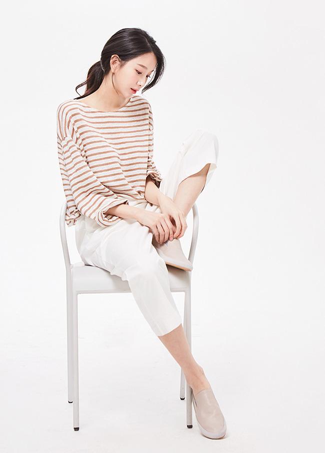 (3STT056) Dangara Linen Long-sleeve T-shirt