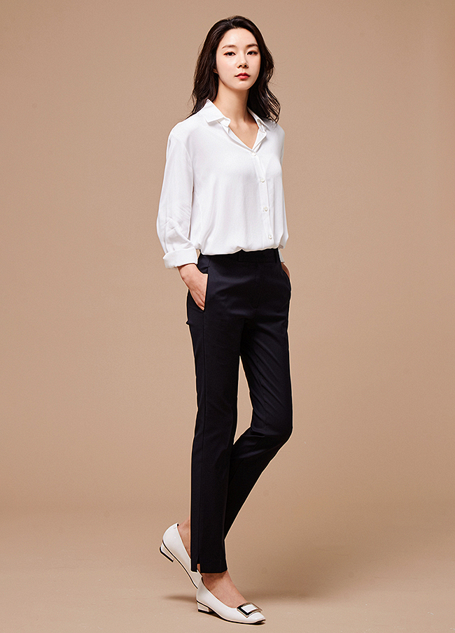 (3SPT087) Straight Fit Slacks