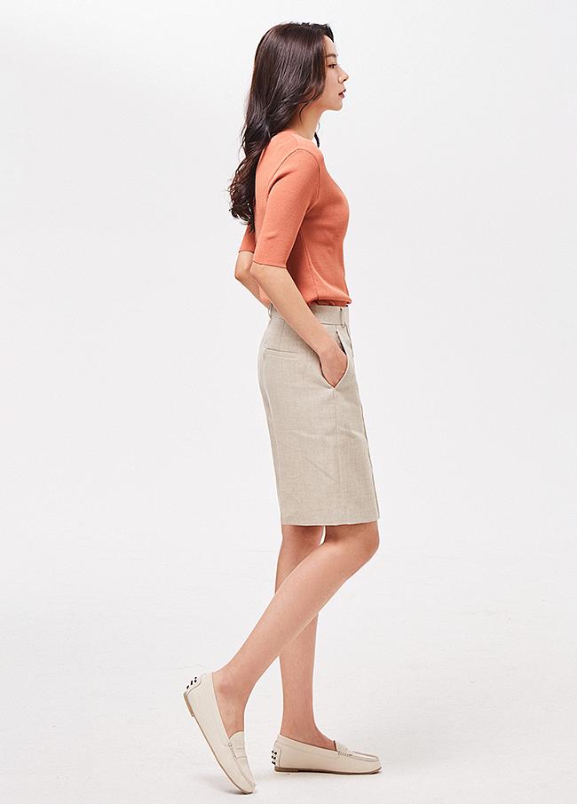 (3SPT102) Linen 5 Pants