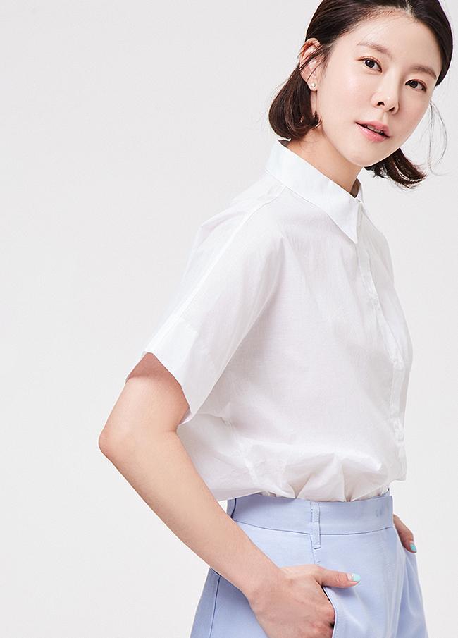 (3SBL078) Standard Short-sleeve Cotton Shirt
