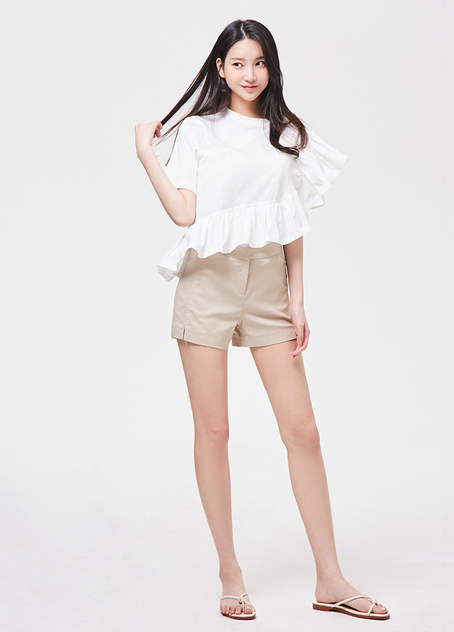 (3SPT140) Linen Cotton Short Pants