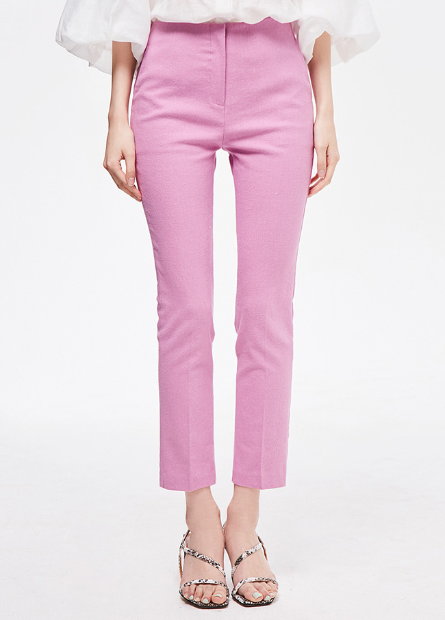 (3SPT132) Linen Straight Pants