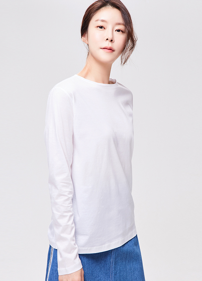 (3FTT004) Seal Cotton Long-sleeve T-shirt