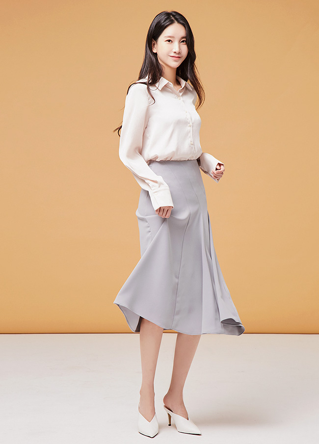(3FSK016) Unfooted Flare Long Skirt