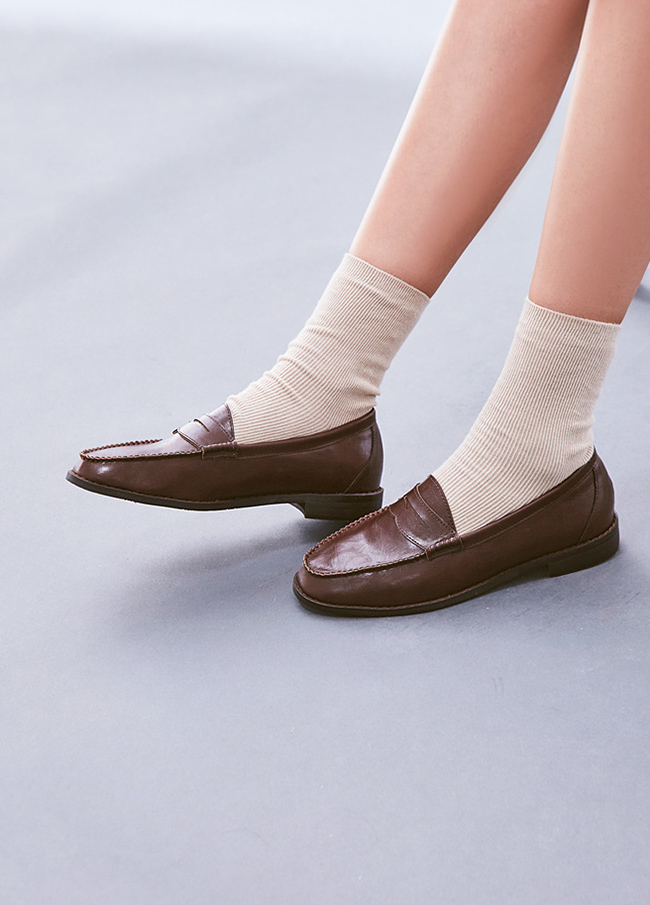 (3FSH032) 513 simple Daily Loafers