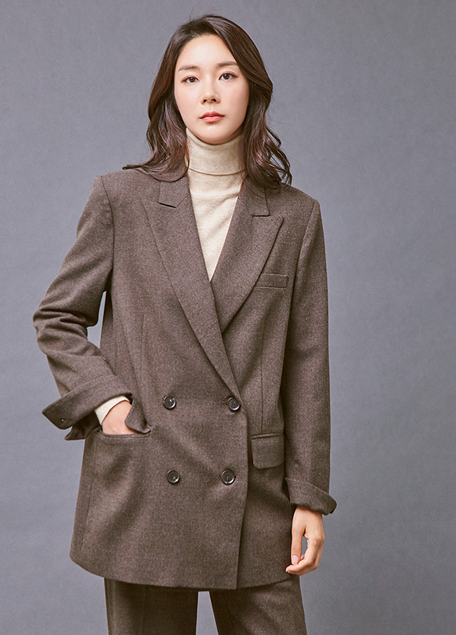 (3FJK026) Classic Two button Wool Jacket