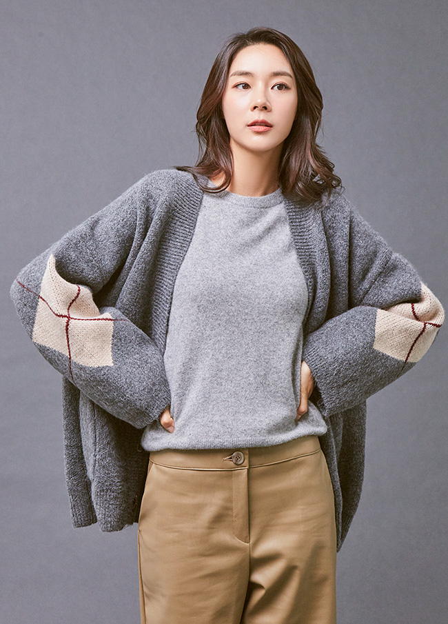 (3FCD016) diamond Patterns Cardigan