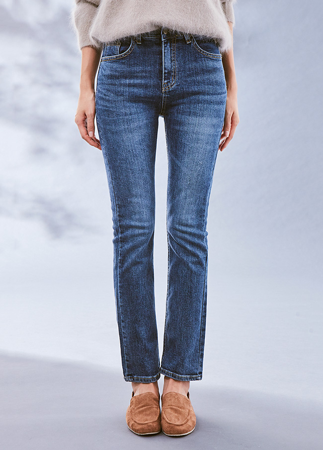 (3FPT076) Cotton Span Daily Hidden Banding Jeans